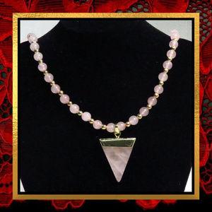 Rose Quartz Gemstone Necklace #260